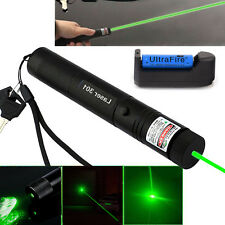 532nm Beam Zoomable Focus Green Laser Pointer Pen G301 Lazer + 18650 Battery