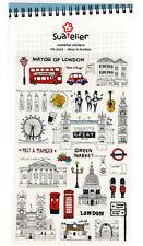 1 sheet Korean Sonia Retro style London Craft scrapbooking stickers
