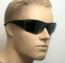 SMITH CAPTAINS CHOICE Men Wrap Sunglasses BLACK POLARIZED PLATINUM MIRROR DL5 RT