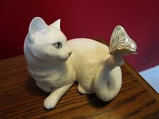Lenox Enchantment White Cat with Butterfly on Tail Figurine [a*3]