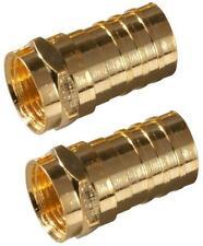 NEW ZENITH VA1002RG6CR PK (2) GOLD COAX CABLE RG6 CRIMP ON CONNECTORS 6317127