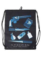 Supernatural Join The Hunt Icons Cinch Back Sack Bag Sam Dean Winchester - NWT