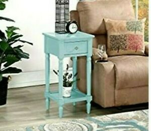 Convenience Concepts French Country Khloe Square End Table in Sea Foam.