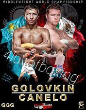 Canelo vs Golovkin Boxing Poster 4LUVofBOXING Alvarez GGG 11x17 New