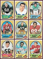1969 1970 1971 1972 1973 Topps Football $1.29 EACH U Pick Complete Your Set EX