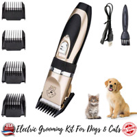 Dog Cat Pet Grooming Kit Electric Hair Clipper Trimmer Cordless Rechargeable
