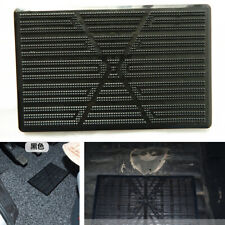 Universal 1Pcs Black Car Floor Mat Carpet Scuff Guard Foot Rest Pedal Plate Pad