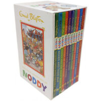 Noddy 10 Books Collection Set By Enid Blyton Noddy goes to School,Here comes