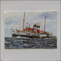 P.S. Waverley Watercolour by Ian H. Boyd Passenger Ship 1997 Postcard (P351)