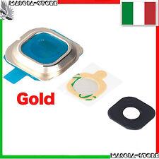 Lente vetrino COVER Camera Fotocamera per Samsung GALAXY S6 EDGE G925 G925F GOLD