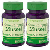 New Zealand Green Lipped Mussel 500 mg 2X60 or 1x120 Caps (Perna canaliculus)
