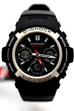 CASIO Midsize G-SHOCK AWGM100-1A Black Analog Digital Black case Black resin