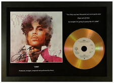 PRINCE '1999'.... SIGNED GOLD DISC DISPLAY