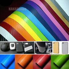 "12"" x 50"" PVC Stretch Car 3D Carbon Fiber Texture Vinyl Wrap Sheet Sticker Decal"
