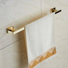 Wall Stainless Steel Gold Polished Single Towel Bar Bathroom Towel Rack Holder