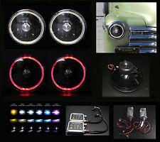 """Diamond Headlight w Hid 4.3K 6K 8K 10K H6012 H6015 H6024 H6017 7"""" Red Halo Black"""
