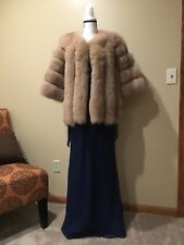 100% AUTHENTIC BRAND NEW BROWN FOX FUR JACKET COAT WOMAN