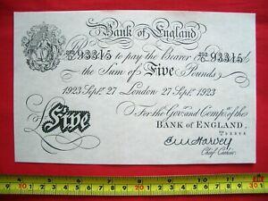 £5 White Fiver Five Pound Bank Note Ealing Studios - Ealing Comedies 1947 to 58