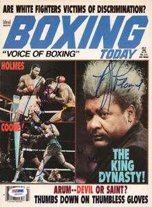 Larry Holmes, Don King & Gerry Cooney Autographed Magazine Cover PSA Q95654