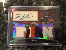 Tim Tebow 2010 Topps Triple Threads Rookie Triple Patch Auto 9/10 See Auto