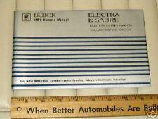 1981 BUICK LeSabre Electra & Wagons Car Owner's Manual
