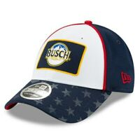 New Era Kevin Harvick White/Navy Busch Salutes 9FORTY Snapback Adjustable Hat