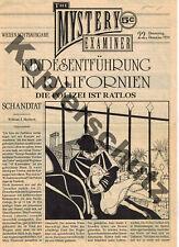 """THE MYSTERY EXAMINER """"deutsche Weihnachtsausgabe; Donnerstag, 22. Dezember 1924"""""""