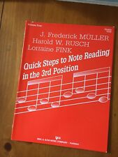 Quick Steps To Note Reading In The 3rd Position For Violin Volume Four