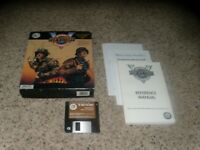 """V  for Victory Utah Beach IBM PC Game on 3.5"""" disk with box and manual"""