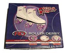 Roller Derby Roller Star 600 White Purple Womens Size 9  Derby Skates
