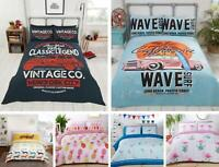 Teenagers Quilt Duvet Cover & Pillowcase Bedding Bed Set Modern Kids Vintage
