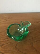 Vintage Green Glass Apple Dish/Ashtray