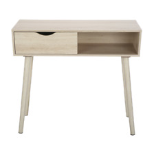 Oak LOOK Hallway Table Scandi Entrance Display Home Living Room Study Office