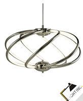 Lámpara Colgante LED Ø50cm Metal Cromo Acrílico 42W de Techo, Mesa Comedor Nuevo