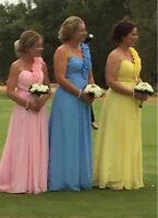 Stock Cheap Chiffon Bridesmaid Dresses Wedding Party Dress 6 8 10 12 14 16