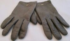 Borelli Collection Handmade Gray Soft Leather Lined Driving Gloves 7