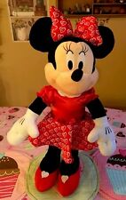 "Valentines Day Heart Minnie Mouse Window Greeter 26"" Wreath Gift Swag Pick Choc"