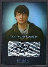 GHOST WHISPERER SEASON 1 & 2 AUTOGRAPH CARD #GA-4 CHRISTOPH SANDERS as NED BANKS