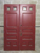 ~ ANTIQUE DOUBLE ENTRANCE FRENCH DOORS  ~ 60 x 89 ~  ARCHITECTURAL SALVAGE