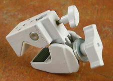 2 Manfrotto/Avenger Super Clamps WHITE Clamp with stud.