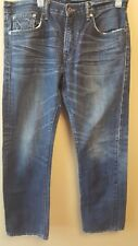 LEVI'S Hesher Men's Jeans 34X31 Blue Straight Leg Distressed Classic