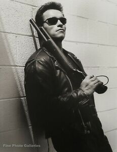 1991 ARNOLD SCHWARZENEGGER Terminator Movie Actor By HERB RITTS Photo Art 16x20