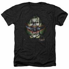 Trevco Men's Aa Arkham Batman Adult T-Shirt, Cozy Heather Black, XL