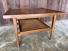 Drexel Declaration Kipp Stewart Mid Century Wood Cane Coffee Side End Table