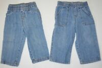 Lot of 2 Baby Boys & Girls Unisex Jumping Beans + WonderKids Blue Jean Pants 18M