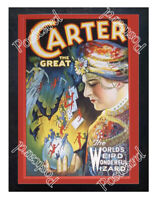 Historic Carter the Great- Charles Carter Magician Advertising Postcard