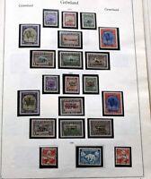 GRÖNLAND 1938 BIS 1994 Postfrisch oder gestempelt komplette Sammlung + ZUGABEN