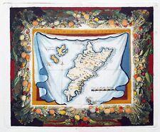 GRECE - ile de Kos - Très Rare Carte XVII ème Siècle de 1689 Vincenzo CORONELLI