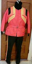 Vintage 1970's Bombardier Ski-Doo USA Made Snowmobile Suit Jacket Bib Small FS!