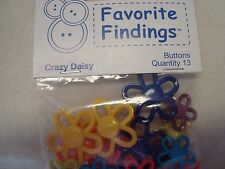 Favorite Findings Crazy Daisy Buttons -Scrapbooking/Craft/Doll Clothes